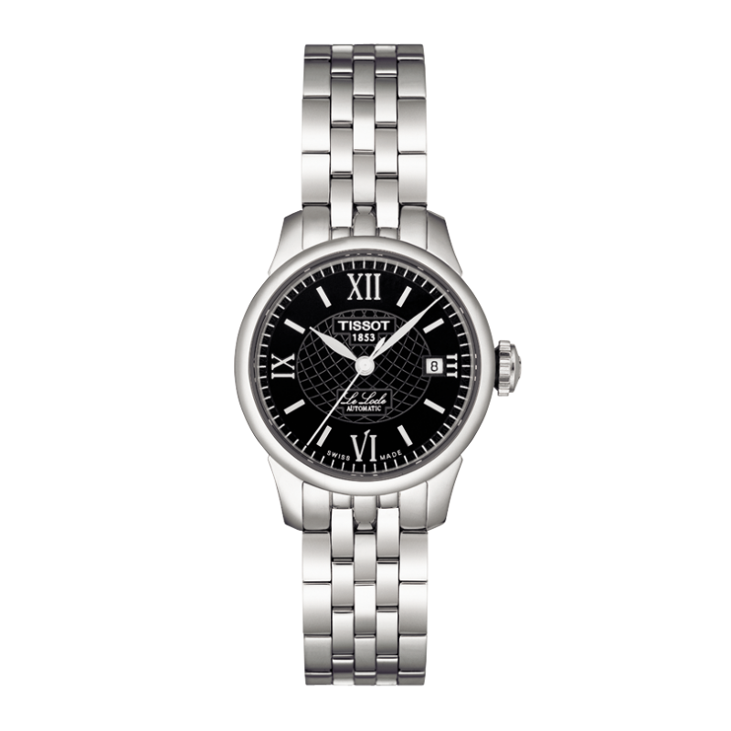 TISSOT - LE LOCLE AUTOMATIC LADY, black dial roman numeral and bracelet T41118353