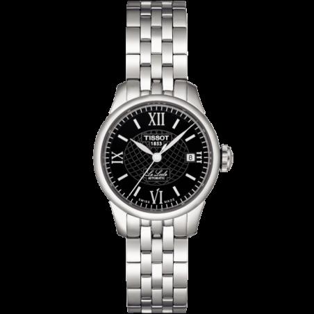 TISSOT - LE LOCLE AUTOMATIC LADY, black dial roman numeral and bracelet T41118353