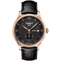 Tissot - Le Locle Small Second Men's Watch black dial and leather strap T0064283605801