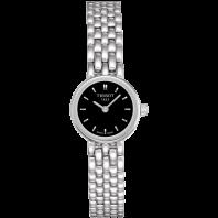 Tissot - Lovely svart urtavla & stållänk T0580091105100