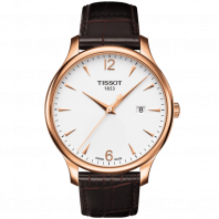 Tissot - Tradition Gent silver arabic numbers & rose gold