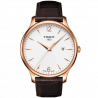 Tissot - Tradition Gent, silver dial & leather strap T0636103603700