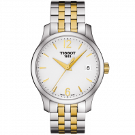 Tissot - Tradition Lady Quartz, Silver & yellow gold PVD