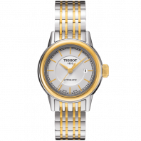 Tissot - Carson Automatic Lady white dial & yellow gold PVD plated T0852072201100
