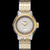 Tissot - Carson Automatic Damclocka vit urtavla stål & gult guld PVD T0852072201100