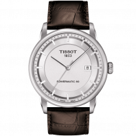 Tissot - Luxury Automatic Silver & Läderband - T0864071603100