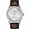 Tissot - Luxury Automatic Gent silver dial and leather strapT0864071603100