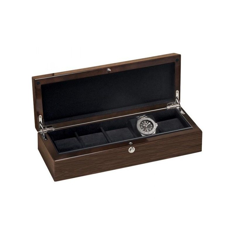 Wooden watch case for 5 watches