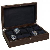 Wooden watch collector's box for 10 watches