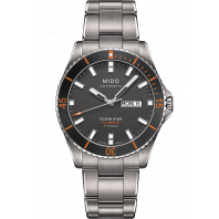 MIDO Ocean Star-Titanium Black & Orange Daydate