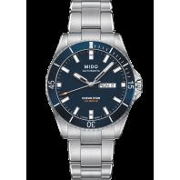 MIDO Ocean Star 200 Blå & Stållänk M0264301104100