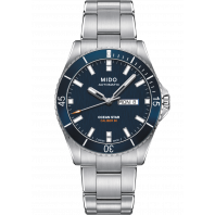 MIDO Ocean Star- Blue Steel DayDate Gent's Watch