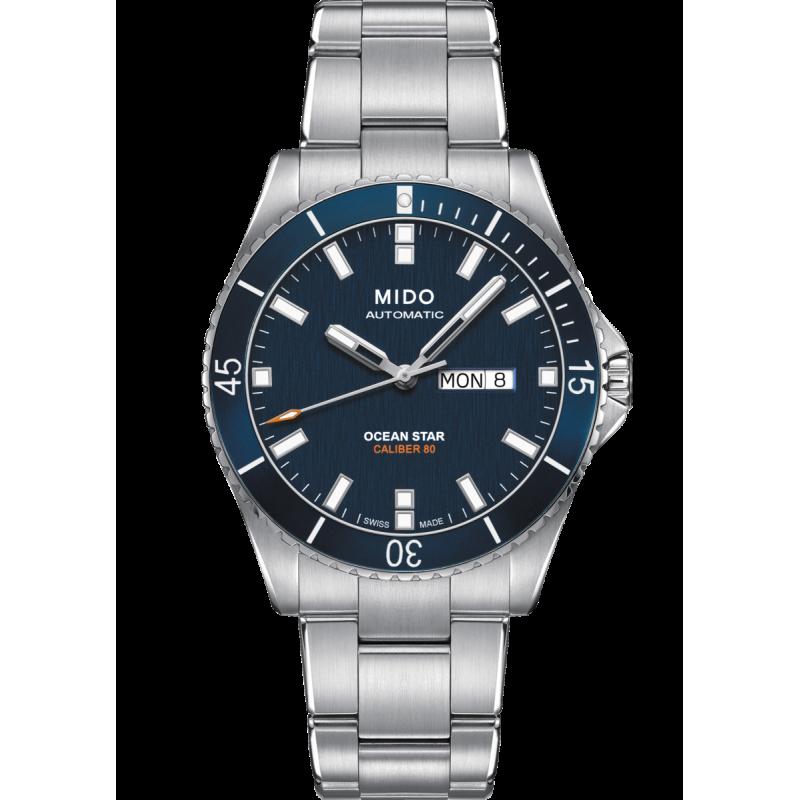 MIDO Ocean Star 200 Blue & Steel Bracelet M0264301104100