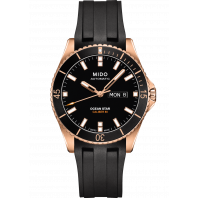 MIDO Ocean Star- Rose Gold PVD Black Gummi