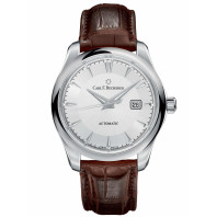 Carl F. Bucherer Manero Automatic Silver & Leather Strap