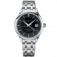 Manero Automatic Men's - 38 mm svart urtavla
