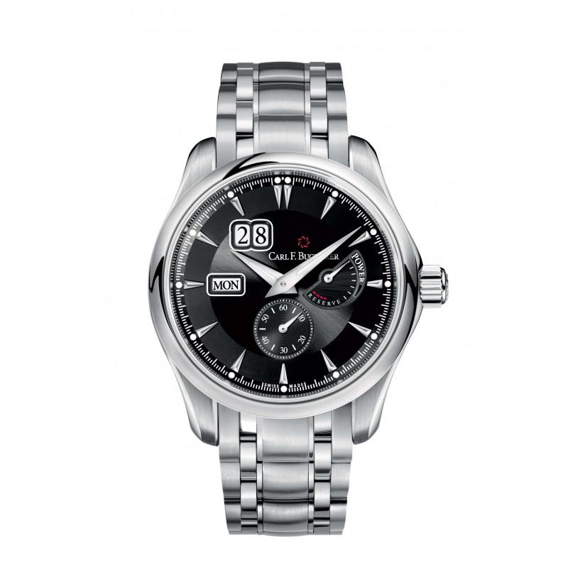 Manero Automatic Men's Watch Power Reserve Black