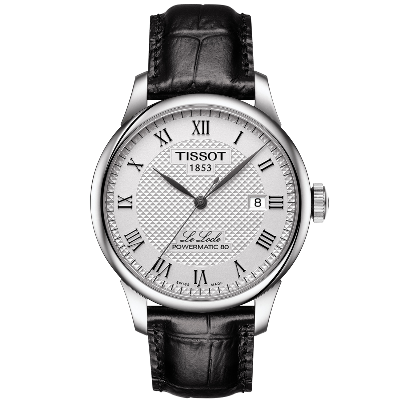 Tissot - LE LOCLE POWERMATIC 80 Silver & läderband T0064071603300