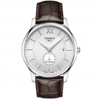 Tissot - TRADITION AUTOMATIC SMALL SECOND Silver & Läderband