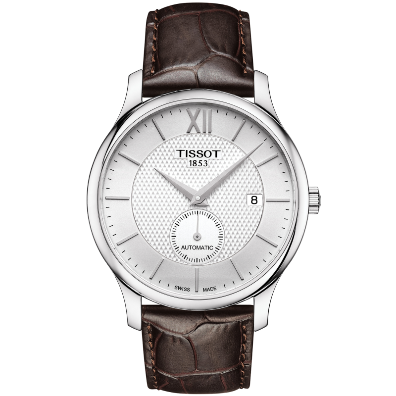 Tissot - TRADITION AUTOMATIC SMALL SECOND Silver & Leather strap T0634281603800