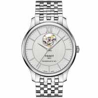 Tissot - TRADITION POWERMATIC 80 OPEN HEART Silver & Bracelet