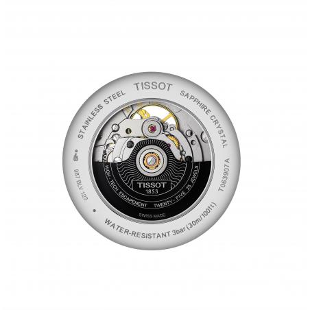 Tissot - TRADITION POWERMATIC 80 OPEN HEART Silver & Bracelet
