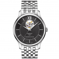 Tissot - TRADITION POWERMATIC 80 OPEN HEART Black & Bracelet