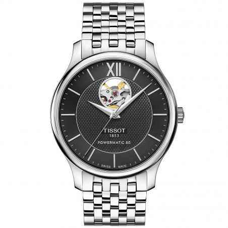 Tissot - TRADITION POWERMATIC 80 OPEN HEART Black & Bracelet T0639071105800