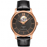 Tissot - TRADITION POWERMATIC 80 OPEN HEART Black & Rose gold T0639073606800