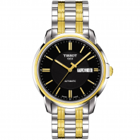 Tissot - AUTOMATICS III Men's watch Black dial, Steel&gold