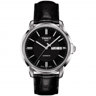 Tissot - AUTOMATICS III Men's watch Black & Leather strap