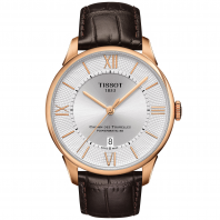 TISSOT - CHEMIN DES TOURELLES POWERMATIC 80 Silver & Rose gold T0994073603800