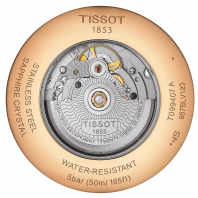 TISSOT - CHEMIN DES TOURELLES POWERMATIC 80 Silver & Rose guld T0994073603800