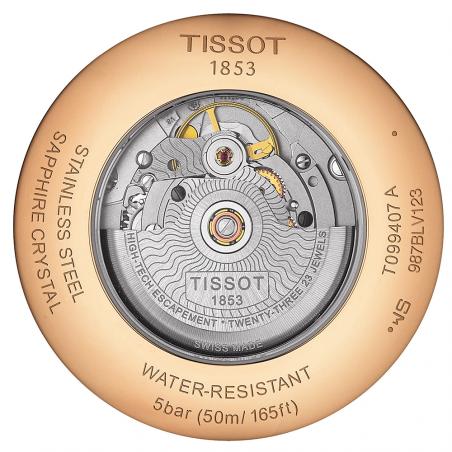 TISSOT - CHEMIN DES TOURELLES POWERMATIC 80 Silver & Rose gold T0994073603800