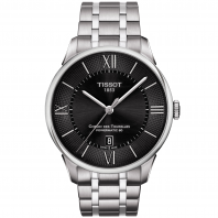 TISSOT - CHEMIN DES TOURELLES POWERMATIC 80 Black & Steel T0994071105800