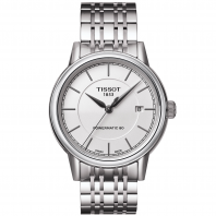 TISSOT CARSON POWERMATIC 80 Men's watch White & Steel