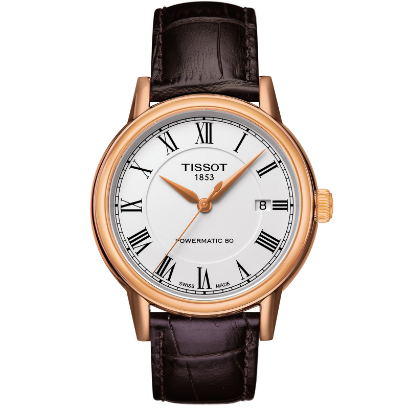 TISSOT CARSON POWERMATIC 80 White & Rose gold T0854073601300