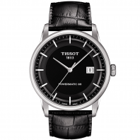TISSOT - LUXURY POWERMATIC 80 Svart & Läderband