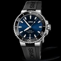 Oris Aquis Date 43.5 mm Blue Dial & Rubber Strap
