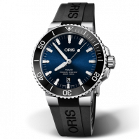 Oris Aquis Date Blue Dial & Black Rubber Strap