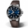 Oris Aquis Date Blue & Leather Strap 733 7730 4135-5 24 10 EB