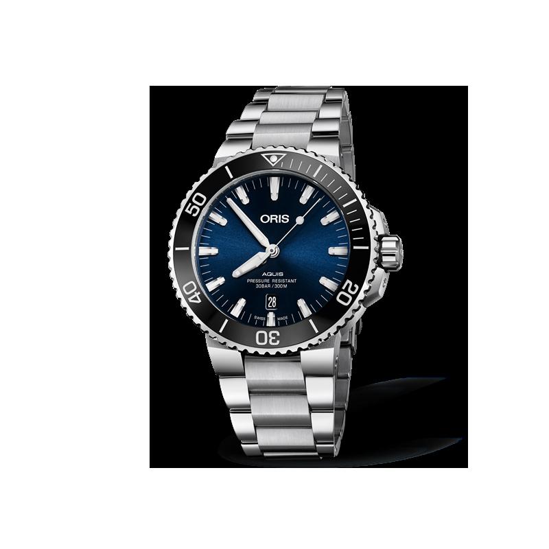 Oris Aquis Date Blue & Bracelet 733 7730 4135-07 8 24 05PEB