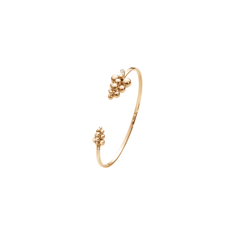 Georg Jensen MOONLIGHT GRAPES bangle - 18 kt. rose gold with brilliant cut diamonds 3510549