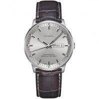 MIDO COMMANDER - AUTOMATIC Chronometer Certified-Leather band silver dial