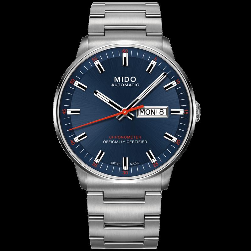 MIDO COMMANDER - AUTOMATIC Chronometer Certified-blå urtavla M0214311104100
