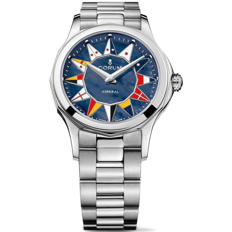 Corum Admiral Legend 32 mm Mother pearl Blue Dial 400.100.20/V200.AB12