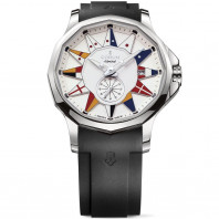 Corum Admiral Legend 42 mm - White dial & rubber strap-A395/02983