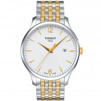 Tissot - Tradition herrklocka guld & stål T0636102203700