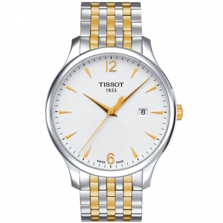 Tissot - Tradition Men's watch gold & steel T0636102203700