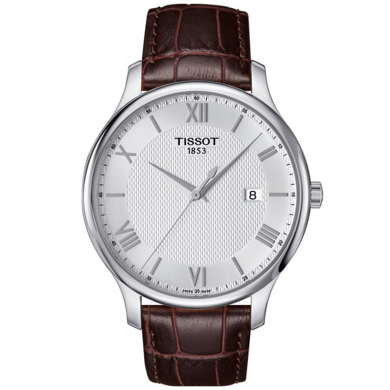 Tissot - Tradition herrklocka silver romerska siffror T0636101603800